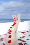 Spa treatment by the ocean Stock Photography