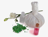 Spa treatment with oil and salts Stock Image