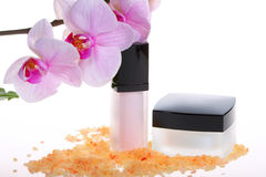 Spa treatment with orchid Stock Photography