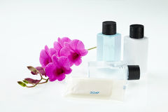 Spa treatment with orchid Stock Photo