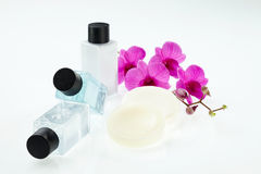 Spa treatment with orchid Stock Images