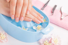 Spa treatment and product for female hand spa royalty free stock photos