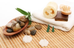 Spa treatment products Royalty Free Stock Photography