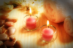 Spa treatment products Stock Photos