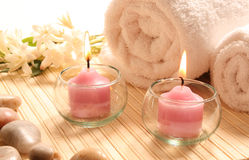 Spa treatment products Stock Images