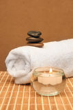 Spa treatment products Stock Photo