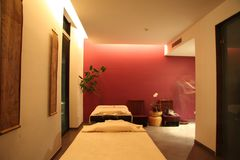 Spa Treatment Room. In the hotel Royalty Free Stock Photography