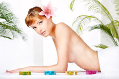 Spa treatment in salon Stock Images