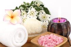 Spa treatment with sea salt. Royalty Free Stock Photos