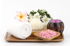 Spa treatment with sea salt Royalty Free Stock Images