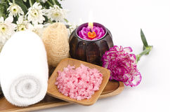 Spa treatment with sea salt. Stock Images