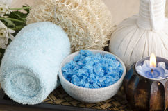 Spa treatment with sea salt. Stock Image