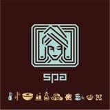 Spa treatment. Spa woman logo Stock Photos