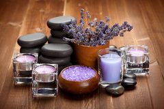 Spa treatment - stones and spa minerals Stock Image