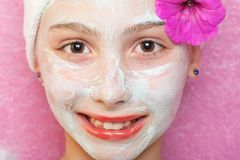 Spa Treatment for a young girl Stock Photography