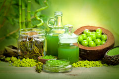 Spa treatments - aromatherapy minerals Stock Images