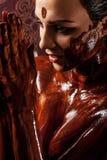 Spa treatments: chocolate body wraps Royalty Free Stock Photos