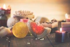 Spa treatments. Handmade organic soap Stock Images
