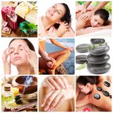 Spa treatments and healthy living. Royalty Free Stock Image