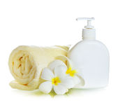 Spa Treatments. Lotion royalty free stock photography
