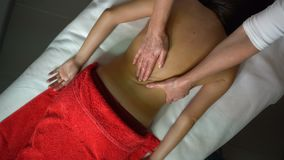 Back massage stock footage