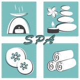 Spa treatments set Royalty Free Stock Images