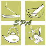 Spa treatments set Stock Photo
