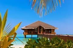 Spa on Tropical Maldives island Royalty Free Stock Image