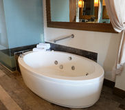 Spa tub in bathroom Royalty Free Stock Images