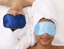 Spa twins stock photography