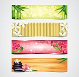 Spa vector banners set Royalty Free Stock Photos