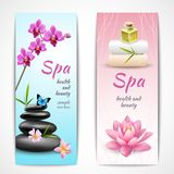 Spa vertical banners Stock Photos