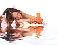 Spa in water royalty free stock photos