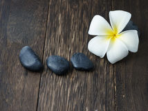 Spa and Wellness. Concept with zen stone Royalty Free Stock Image