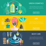 Spa And Wellness Banners Set Stock Images