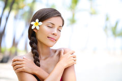 Spa wellness beach beauty woman Royalty Free Stock Image