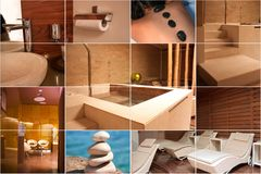 Spa and Wellness collage Royalty Free Stock Photography