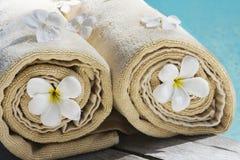 Spa and wellness details. Near swimmingpool Royalty Free Stock Image