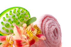 Spa and wellness details. / aroma Royalty Free Stock Image