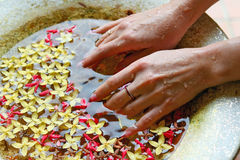 Spa and wellness details. For hands Stock Photography
