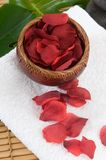 Spa and wellness flower and towels. With towels Stock Image