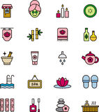 Spa Wellness Healthcare Icons Set Royalty Free Stock Images