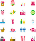 Spa and Wellness icon set Royalty Free Stock Image