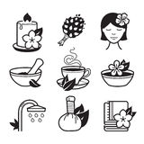 Spa and Wellness icons Stock Photo