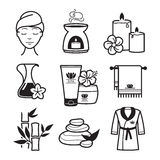 Spa and Wellness icons Stock Photos