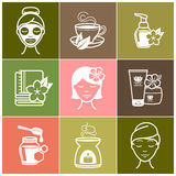 Spa and Wellness icons Stock Image