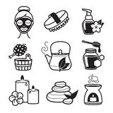 Spa and Wellness icons Stock Images
