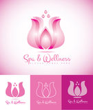 Spa and wellness lotus logo eps Royalty Free Stock Images