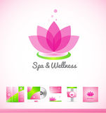 Spa wellness lotus logo icon Stock Photo