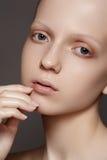Spa & wellness. Natural skincare beauty, clean soft skin, manicure stock photo